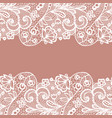 seamless lace border invitation card vector image vector image