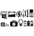 set electrical objects vector image vector image