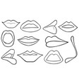 set of different lips vector image vector image