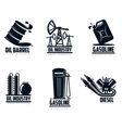 set of logos with oil and petrol station vector image vector image