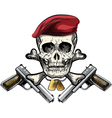 Skull in the beret vector image