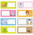 stickers animals vector image vector image