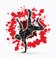 street dance b boys dance hip hop dancing action vector image vector image