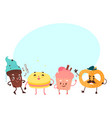 sweet humanized character set isolated vector image vector image
