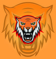 tiger mascot logotype head predator emblem vector image vector image