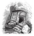 tomb vintage vector image vector image