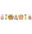 vegetables in zero waste eco friendly bags vector image