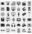 web presentation icons set simple style vector image vector image