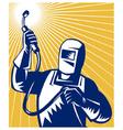 welder fabricator welding equipment vector image vector image