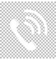 white ringing phone icon on transparent vector image vector image