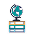 world globe on books vector image