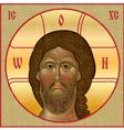 Vintage icon of Jesus vector image