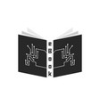 black ebook with pcb elements vector image