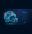Abstract american football helmet rugby