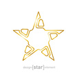 Abstract Golden star on black background vector image vector image