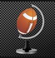 american football american football globe vector image vector image