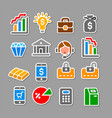 banking and finance stickers vector image vector image