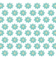 beautiful flowers decorative pattern vector image