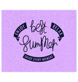 best summer enjoy and relax vector image vector image