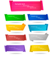 big set with origami banners vector image vector image
