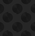 Black 3d spirals vector image vector image