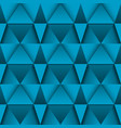 blue 3d geometric pattern abstract seamless vector image vector image
