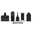 boston architecture city skyline travel vector image vector image