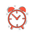 cartoon alarm clock icon in comic style timer vector image