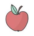 cartoon color doodle apple vector image vector image