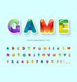 cartoon colorful 3d font trendy modern abc vector image