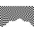 checkered flag wave monochrome on white vector image