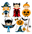 cheerful halloween set vector image vector image