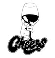cheers hand drawn realistic vector image vector image
