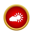 Cloud and sun icon simple style vector image vector image