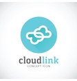 Cloud Link Abstract Concept Storage Icon vector image