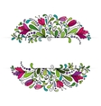 colorful floral background hand drawn vector image