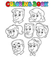 coloring book family collection 3 vector image
