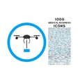 Copter Shipment Rounded Icon with 1000 Bonus Icons vector image vector image