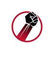 created with clenched fist of a strong man people vector image