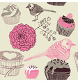 Cupcakes decorative pattern vector | Price: 1 Credit (USD $1)