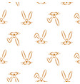cute hand drawn simple baby bunnies seamless vector image vector image