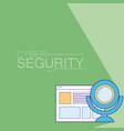 cyber security emblem vector image