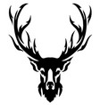 deer with horns image design tattoo emblem vector image vector image