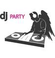 DJ rarty vector image vector image