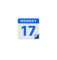 document calendar logo icon design vector image vector image