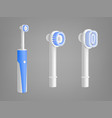 electric toothbrush replacement head model vector image