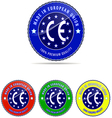 Europe label made stamp badge european round seal vector image