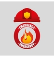 firefighter job icon vector image vector image