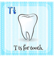 Flashcard letter T is for tooth vector image