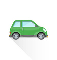 flat green compact city car body style icon vector image vector image